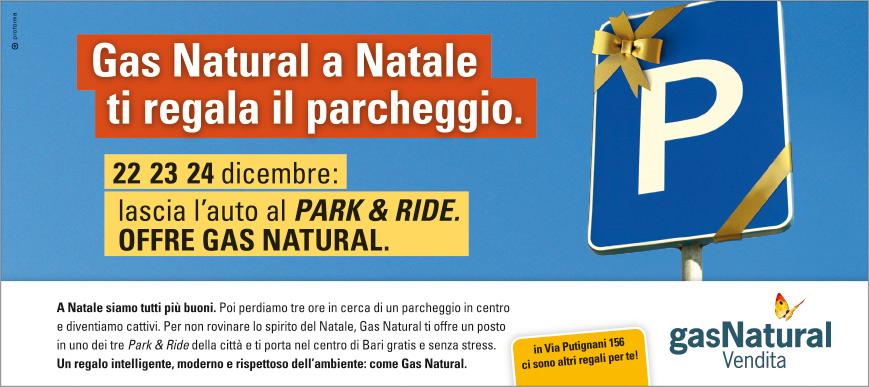 Gas Natural Vendita / Park and Ride / Annuncio stampa